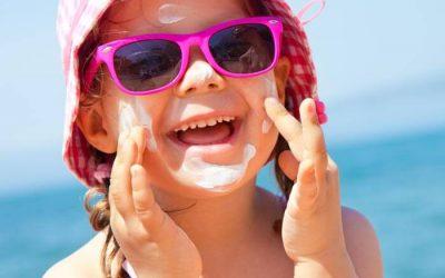 Alivio de las quemaduras solares en verano