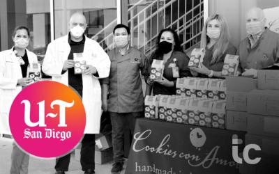 San Diego Union Tribune – ¡Cookies entregadas a los trabajadores de la salud como agradecimiento!