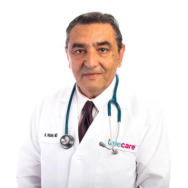 Retrato de Abdullah Haider, proveedor de TrueCare